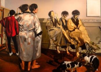 Alegorías I, Variación. 140 x 170 cm. oleo sobre lienzo. 2015