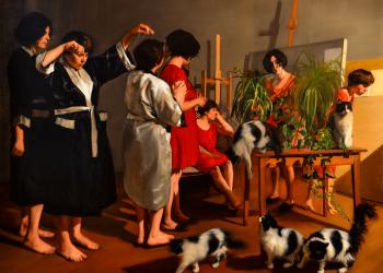 Alegorías II, Variación. 140 x 170 cm. oleo sobre lino. 2016. Colección particular