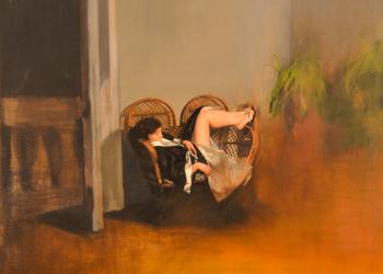 SPRING, Serie Cuatro Estaciones. Alegorías III. 115 X 100 cm. Óleo sobre lino. 2016. Ch.ACO