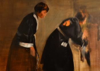 Fall, Serie Cuatro Estaciones. Alegorías III - 115 x 100 cm. óleo sobre lino. 2016. Ch.ACO