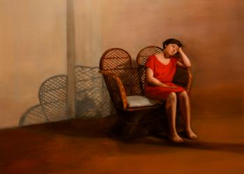 Verano. Alegorías III,  óleo sobre lino, 115 x 100 cm. 2017