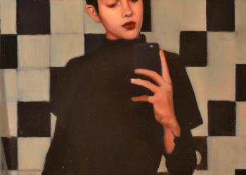 LUNA óleo resina sobre lino. 60 x 45 cm. 2018