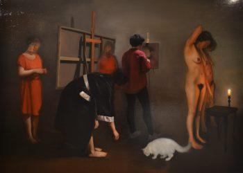 Alegorías V, Oil on linen. 115 x 160 cm. 2017